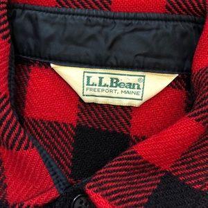LL Bean 100% Wool Buffalo Plaid Button Down